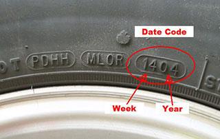 تاریخ تولید تایر