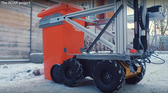 ROAR-project-robot-garbage-disposal-assisted-by-drone