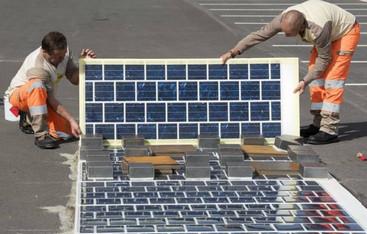 آسفالت جاده ها به پنل خورشیدی