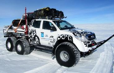 سفر تویوتا به قطب جنوب