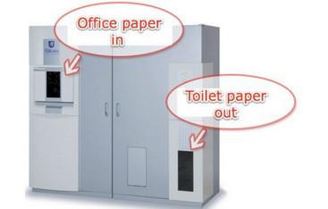 کاغذ باطله به دستمال توالت